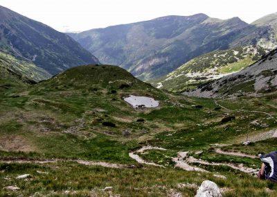 Žiarske sedlo - pohľad do Žiarskej doliny.