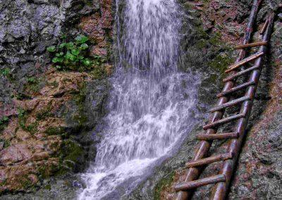 Ráztocký vodopád v Kvačianskej doline.