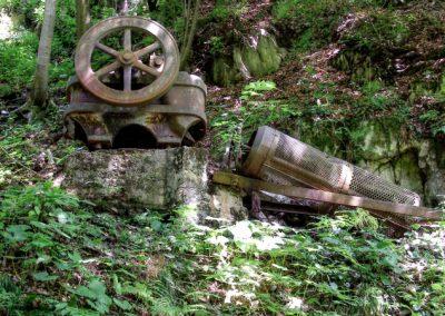 Staré mašinky z lomu.