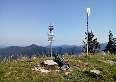 Hnilická Kýčera vrchol.