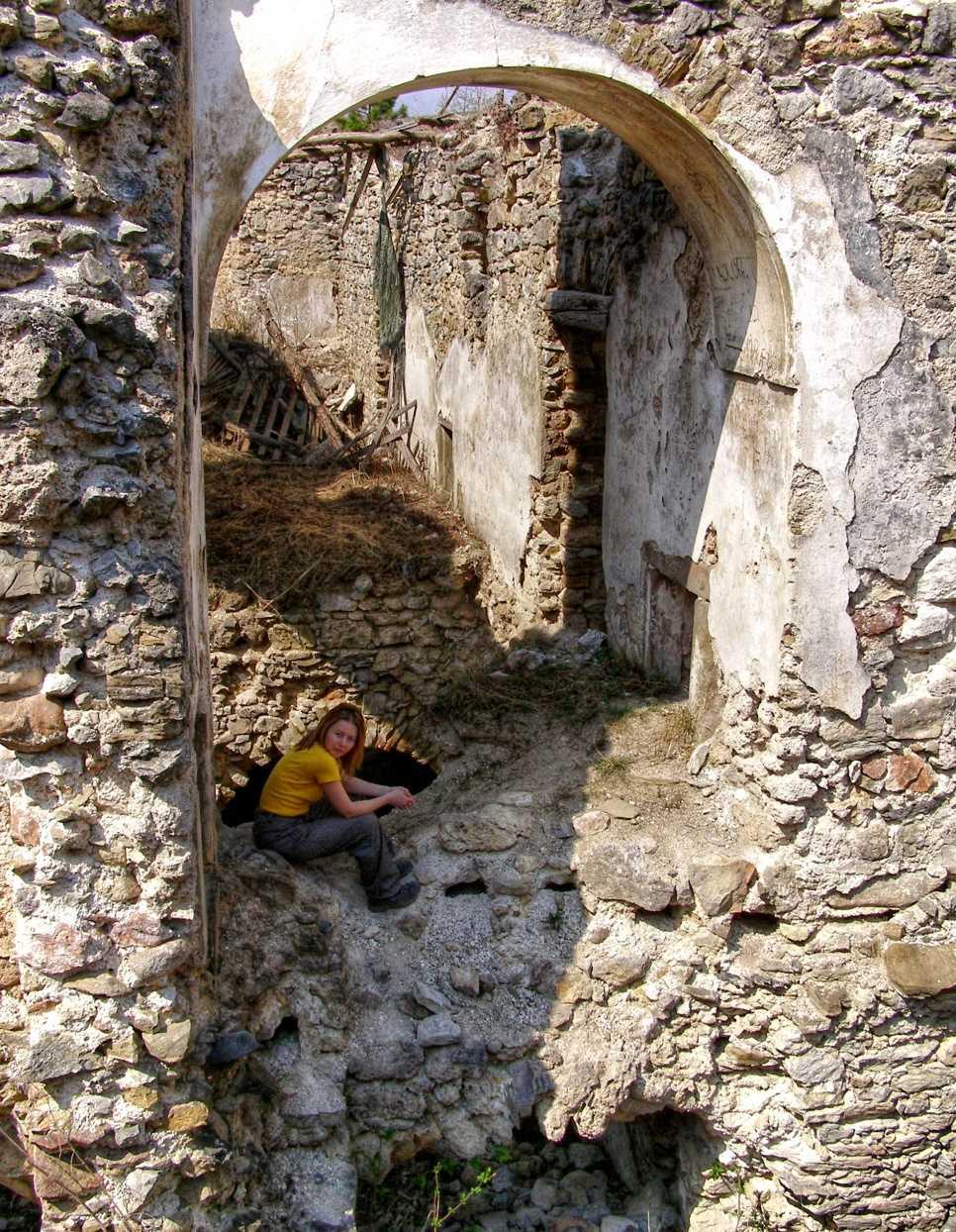 Na hrade Sklabiňa.