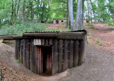 Partizánske bunkre na Jankovom vŕšku.